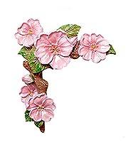 Chen's brother スイッチステッカー桃の花の壁のステッカーソケットのステッカークリエイティブリビングルームの樹脂スイッチカバーの寝室のソケット3Dステレオカバーの装飾.