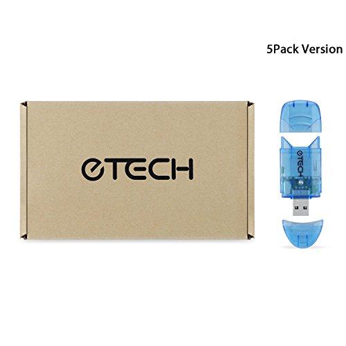 [ 3パック] EtechコレクションUSB 2.0SD / SDHCメモリカードリーダー/ライター–-サポートSanDiskキングストン32GB 16GB 8GB 4GB 2GB SDHC、SD、MMC、Ultra SDHC、Extreme SDHC (カードリーダーのみ、Not for SDXC ) 6453843