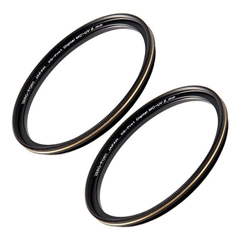 チャンス自動ギャロップZEROOPORT JAPAN レンズ保護フィルター 防塵 防汚 Nikon D5600 D5300 D3400 ダブルズームキット 用 2点セット (55mm + 58mm 2個セット) ゴールドライン
