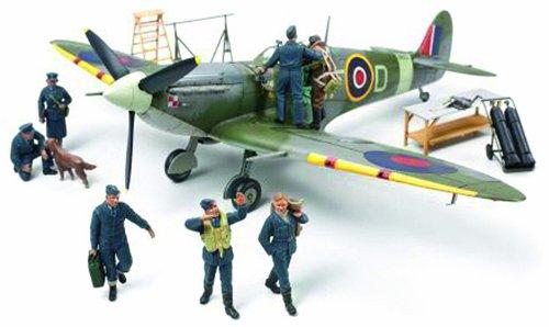1/48 スピットファイアMk.Vb イギリス空軍クルー7体セット