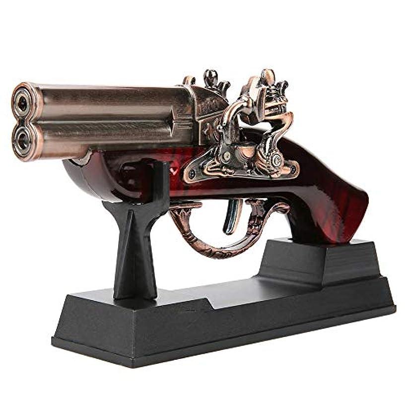 泣く地獄四Qiilu 銃の形 ガスライター ターボライター ガスなし 防風 充填式 DH1800