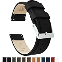 Barton Quick Release - Top Grain Leather Watch Band Strap - Choice of Width - 16mm, 18mm, 20mm, 22mm or 24mm