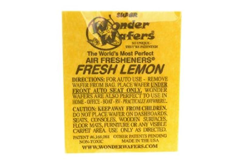宴会温度計寄り添うシートタイプ 芳香剤 WONDER WAFER FRESH LEMON フレッシュレモン 自動車?部屋?トイレ?ゴミ箱等 多用途芳香剤