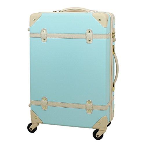 【MOIERG】キャリーバッグ YKK使用 軽量 かわいい スーツケース 大型 (L, ブルー)【81-80003-52】
