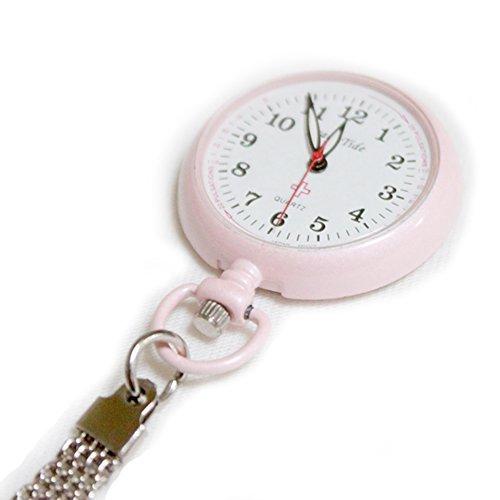 クリップナースウォッチ 蓄光タイプ ピンク