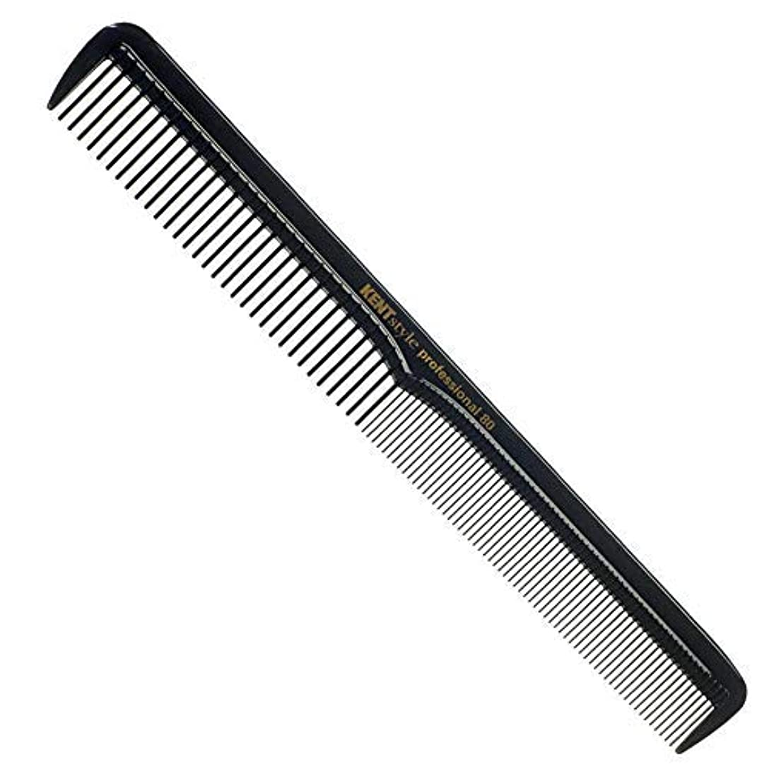 Kent Style Professional Combs (Black) - Anti-static, Unbreakable & Heat Resistant (SPC80) [並行輸入品]