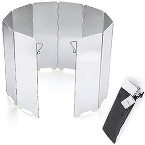 Youriad ウインドスクリーン アルミ製で軽量なコンロ、バナー用の防風板 風除け板 10枚 軽量でアウトドア、登山、バーベキューに最適(30日保証あり)わけあり箇所改良済