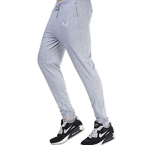 OCHENTA クラブ フレンチテリー ジョガー パンツ トレーニング ワンポイント スウェットパンツ ロングパンツ グレー L