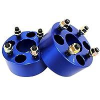 ワイドトレッドスペーサー ブルー 2枚セット PCD100 4H M12×P1.25 厚さ60mm SPB0760
