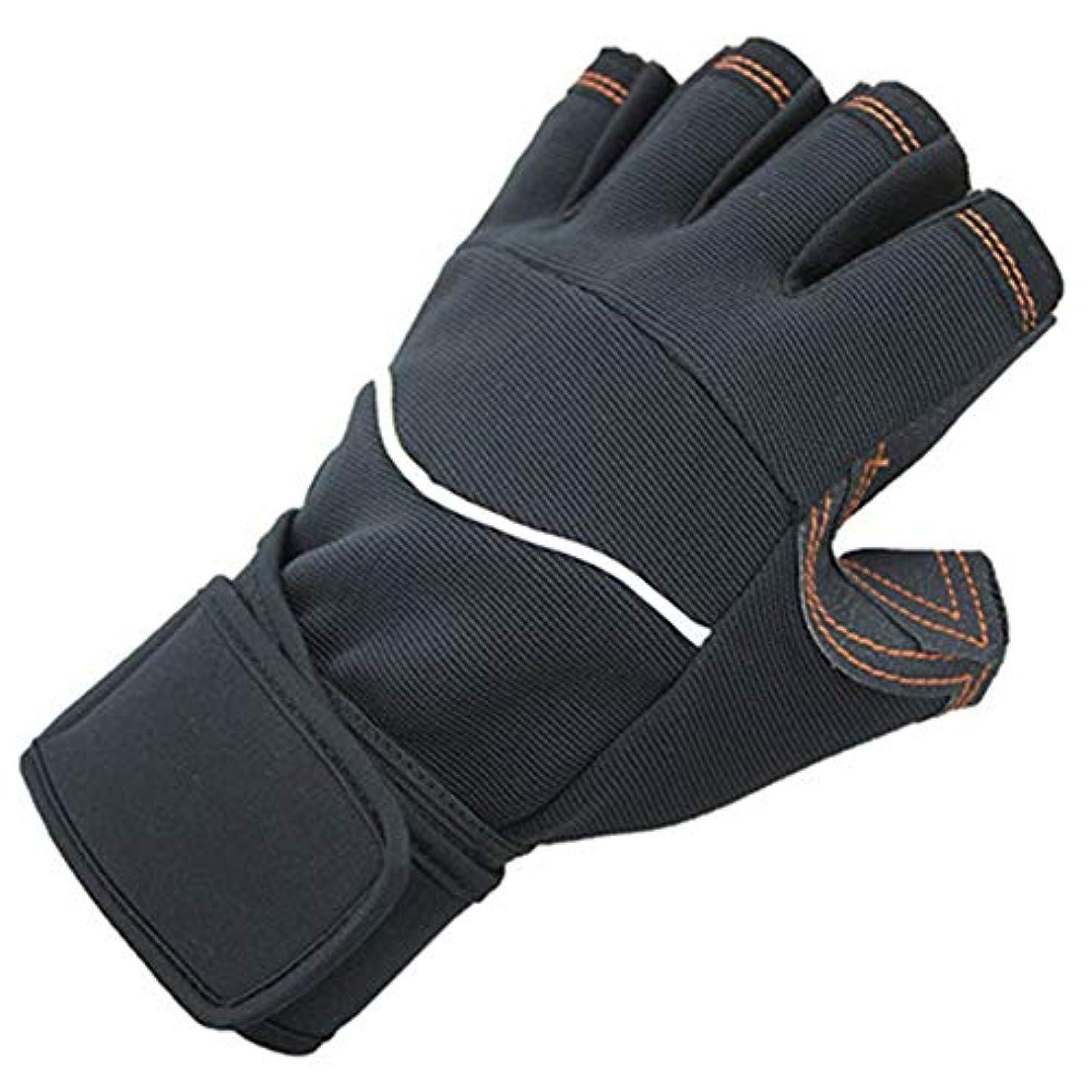 データガイダンス横Rosepoem フィットネス手袋フィットネスミトン手袋身体運動滑り止め耐摩耗性半指手袋