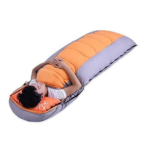 Shamo Camel 寝袋 シュラフ スリーピングバッグ 封筒型 コンパクト 軽量 丸洗い 最低使用温度-5度 収納袋 3カラー -028-028 (オレンジ)