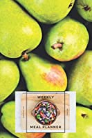 "Weekly Meal Planner Shopping List and Recipes: Organizer for 40 Weeks | Fruits Collection – Pears | 6"" x 9"", 122 Pages"