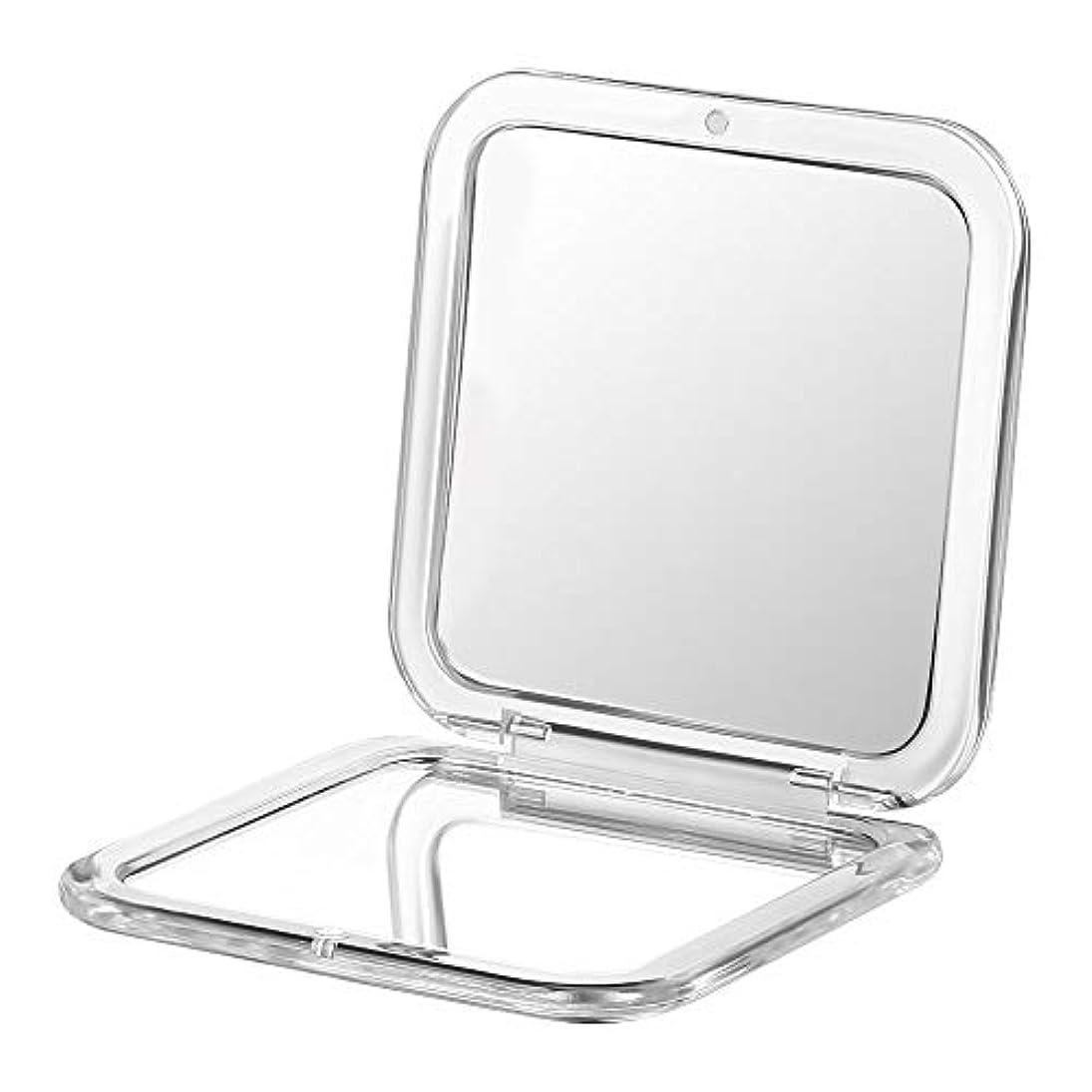 コンパクト鏡 拡大鏡 両面コンパクトミラー 卓上 2倍 化粧鏡
