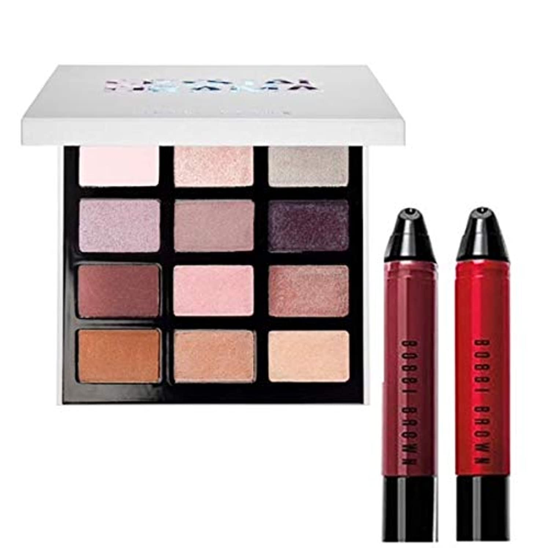 充電靄輝くBobbi Brown 限定版,Crystal Drama Eyeshadow Palette & Lip Art Mini Art Stick Liquid Lip 2Set [海外直送品] [並行輸入品]