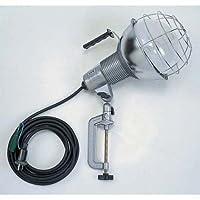 ハタヤ 水銀作業灯 屋外用 500Wバラストレス水銀ランプ 接地付 電線長5m バイス付 RGM-505K