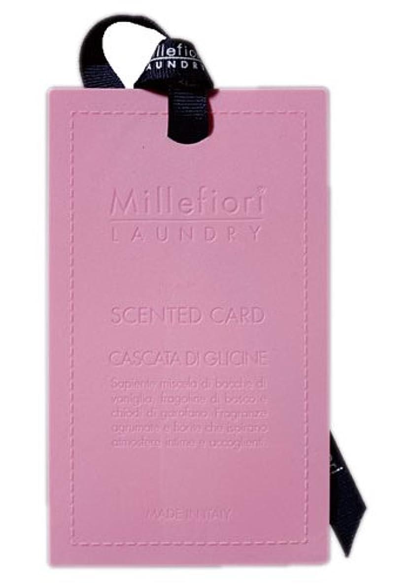 他のバンドで後ろ、背後、背面(部安心させるMillefiori センテッドカード ウィステリア CARD-A-003