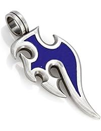 Bicoオーストラリア [サーフ ビコ] スンガイ ペンダント (B115 青) - 永遠の流れ、人生そのもの - カラー樹脂とメタル 、トライバル?アーバン? ジュエリー