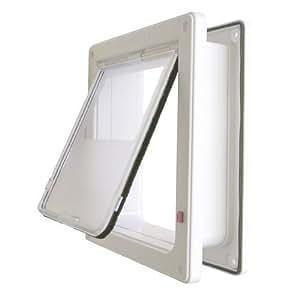 ラージキャットドア  (ホワイト)  大きい猫用  壁面・ドアへの取付けに最適