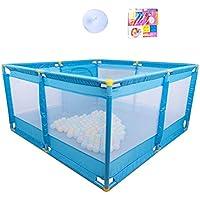 ベビーサークル ポータブルプレイヤード赤ちゃん遊び場子供用ゲームフェンスクロールマット付き屋内幼児セキュリティフェンス (色 : Style2)