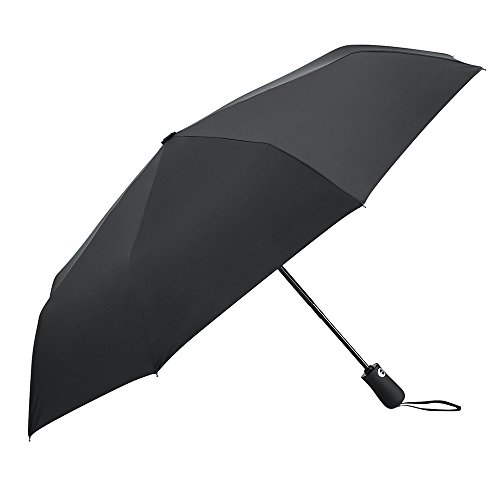 PLEMO 折りたたみ傘 自動開閉折り畳み傘 耐強風 晴雨兼用 UVカット 軽量楽々 高密度210T生地 撥水性加工 収納ケース付 シンプルブラック (直径96センチ)
