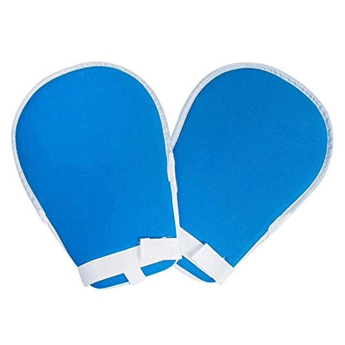 危険な無効にする受け皿プロテクターパッド入りフィンガーコントロールミット防止チューブ手防止予防患者の傷自己害患者の手感染指の害固定高齢者