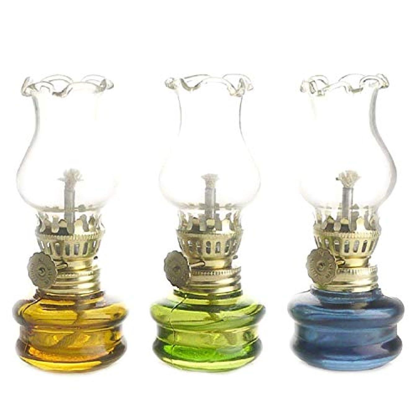気分が悪い物質散髪レトロ 灯油ランプ 灯籠 ノスタルジックな小さなオイルランプ(3個セット)
