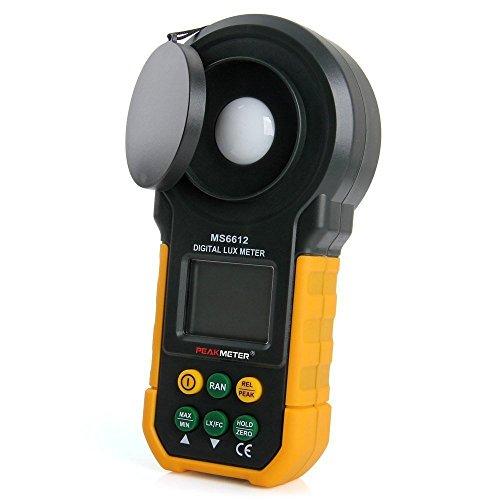 SynkTech MS6612 ライトメーター デジタル 照度計 オートレンジ/手動レンジ 輝度測定