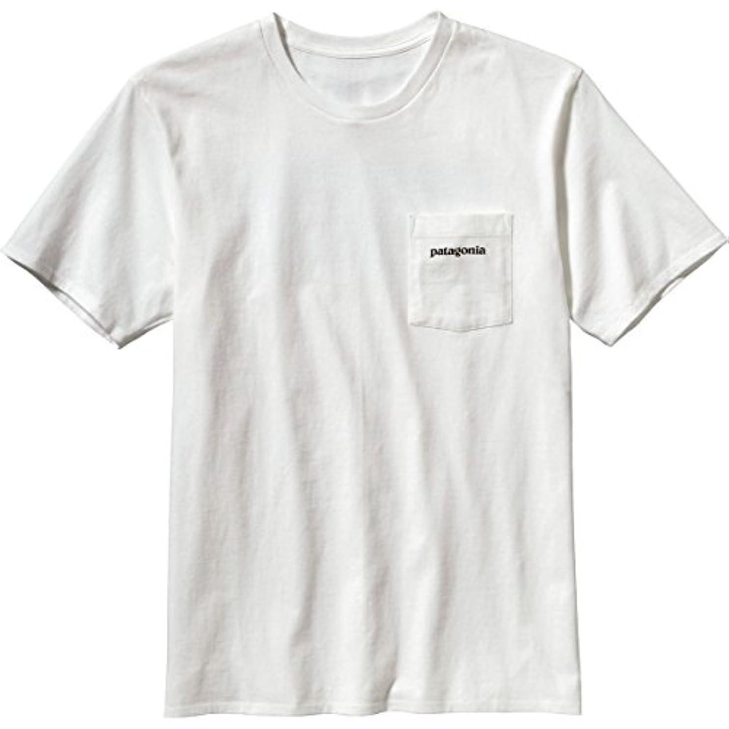 発生アルコーブ連合パタゴニア トップス Tシャツ Patagonia P-6 Logo Pocket T-Shirt - Shor White byg [並行輸入品]