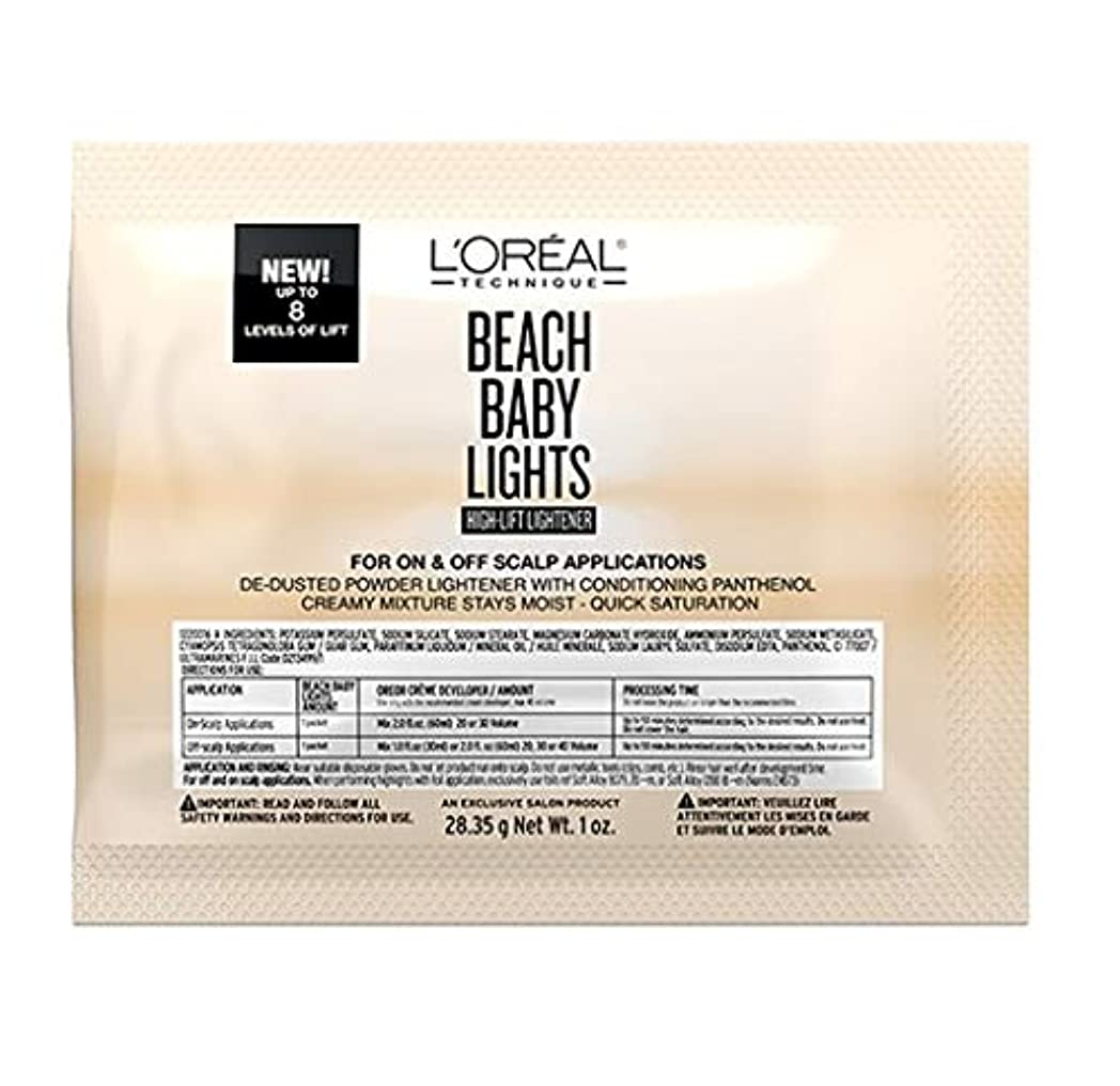 難民安全パウダーL'Oreal Technique - Beach Baby Lights - High-Lift Lightener Packette - 1oz / 28.35g