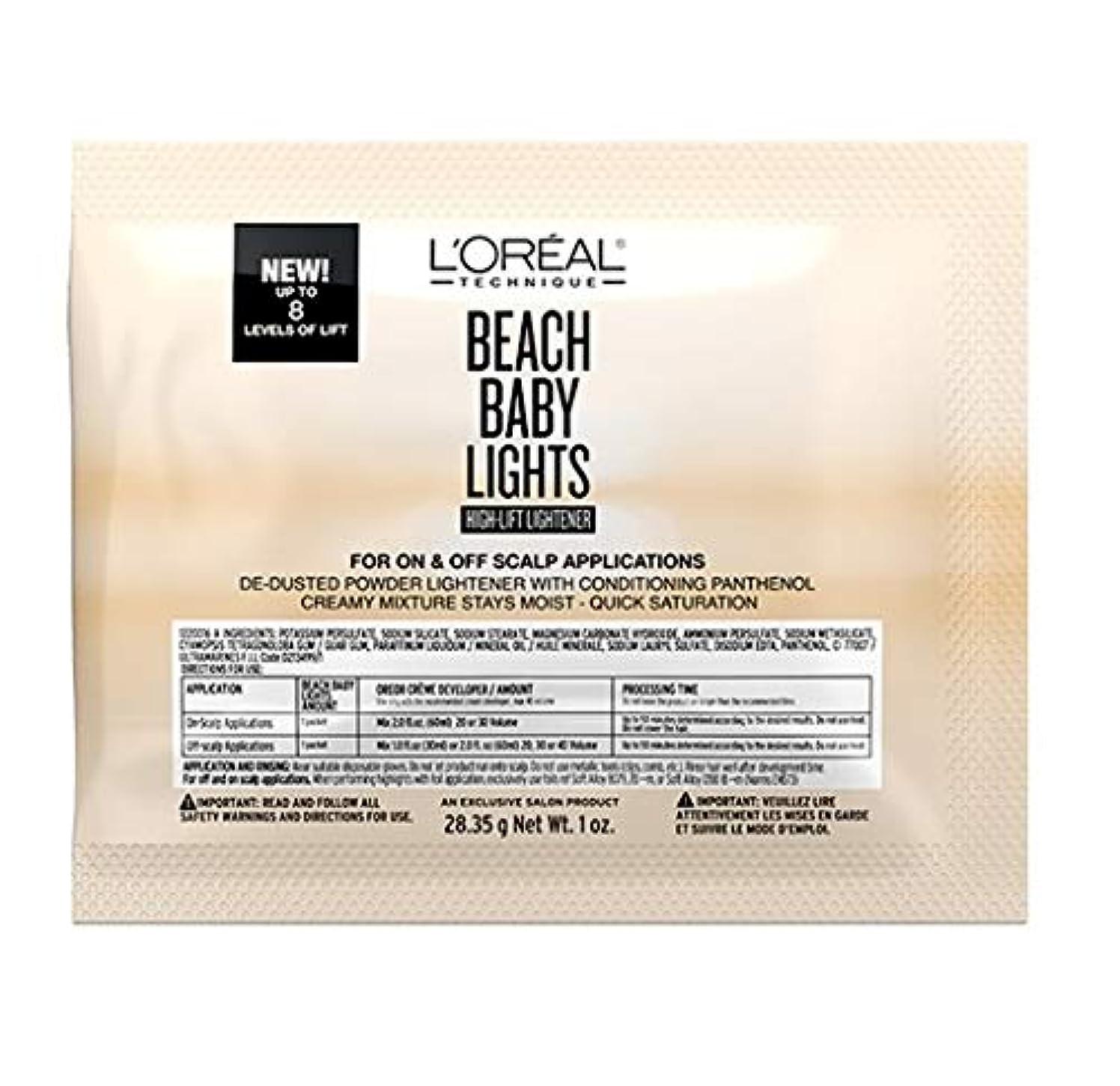 子音候補者パネルL'Oreal Technique - Beach Baby Lights - High-Lift Lightener Packette - 1oz / 28.35g