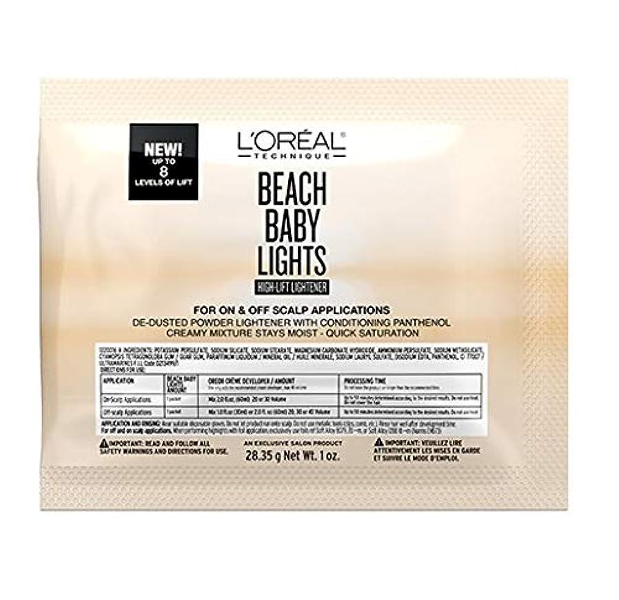 太字特異なウェイトレスL'Oreal Technique - Beach Baby Lights - High-Lift Lightener Packette - 1oz / 28.35g