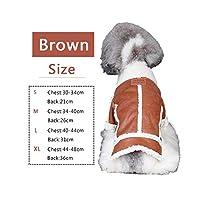 HOOPETペット犬猫服ラムコート厚い秋冬クールブラウン2足暖かい,Brown,L