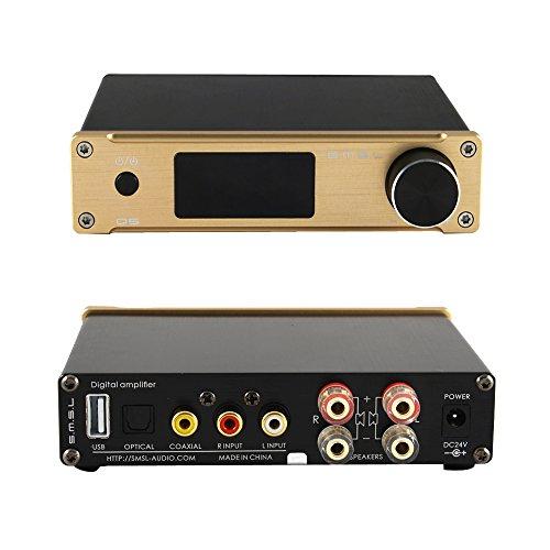 S.M.S.L 高品質HIFI デジタルアンプ オーディオアンプ Q5 ACアダプターセットリモコン 拭き布付き