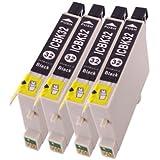ICBK32 エプソン 互換インク IC32 ブラック 4個セット EPSON ICチップ付 1年保証付