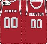 iPhone/Xperia/Galaxy/他機種選択可:好きな番号/名前/チーム名をカスタム/バスケ手帳ケース(アウェイ/チーム:ヒューストン) 08 iPhone8Plus