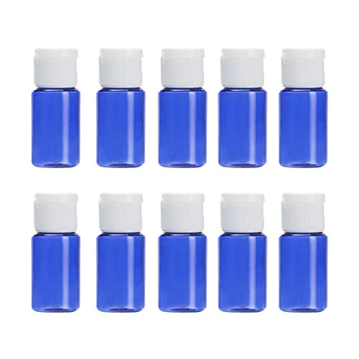 クロール震えジャグリングVi.yo 小分けボトル 香水ボトル 化粧水 詰替用ボトル 携帯用 旅行用品 10ml 10本セット ブルー