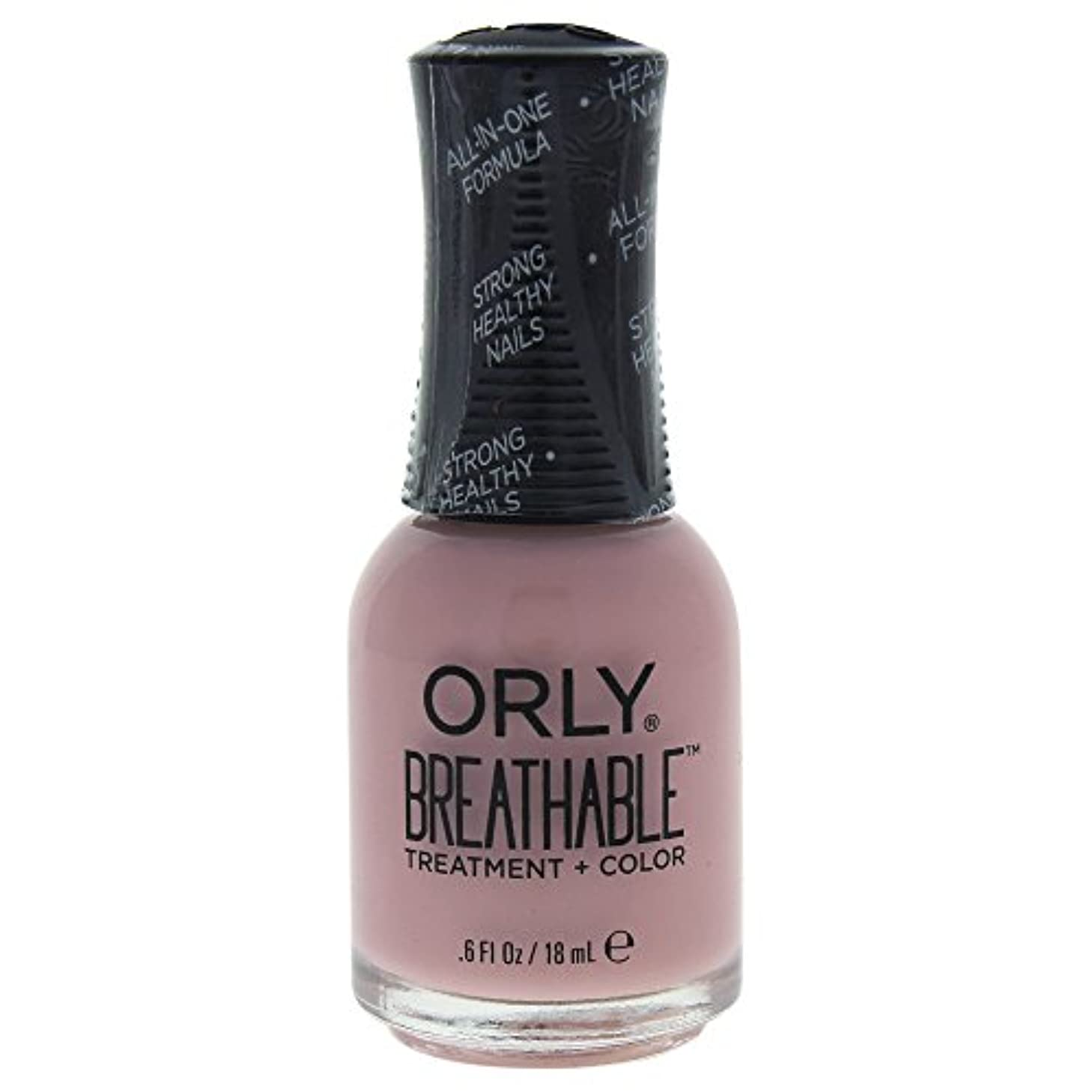 撃退する準備準備するOrly Breathable Treatment + Color Nail Lacquer - Sheer Luck - 0.6oz / 18ml