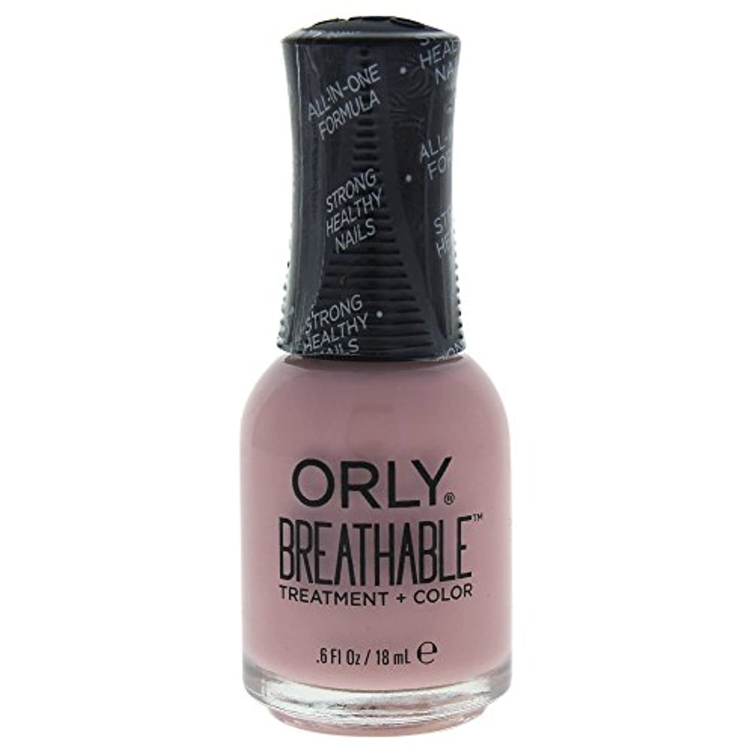 水分毛細血管アイドルOrly Breathable Treatment + Color Nail Lacquer - Sheer Luck - 0.6oz / 18ml