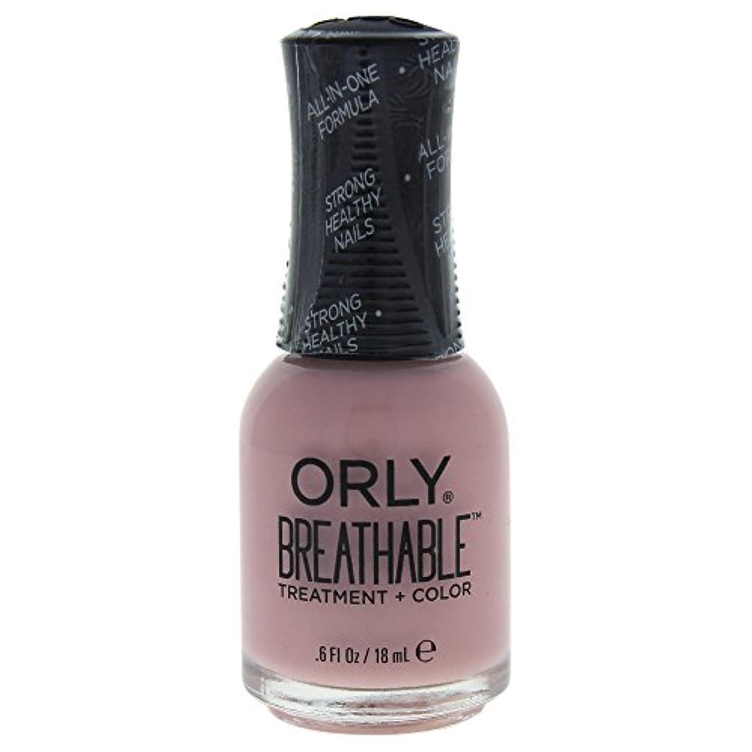 敵高尚な深めるOrly Breathable Treatment + Color Nail Lacquer - Sheer Luck - 0.6oz / 18ml