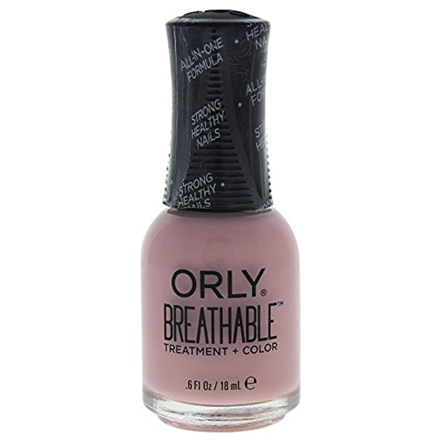 変成器埋め込む機関車Orly Breathable Treatment + Color Nail Lacquer - Sheer Luck - 0.6oz / 18ml