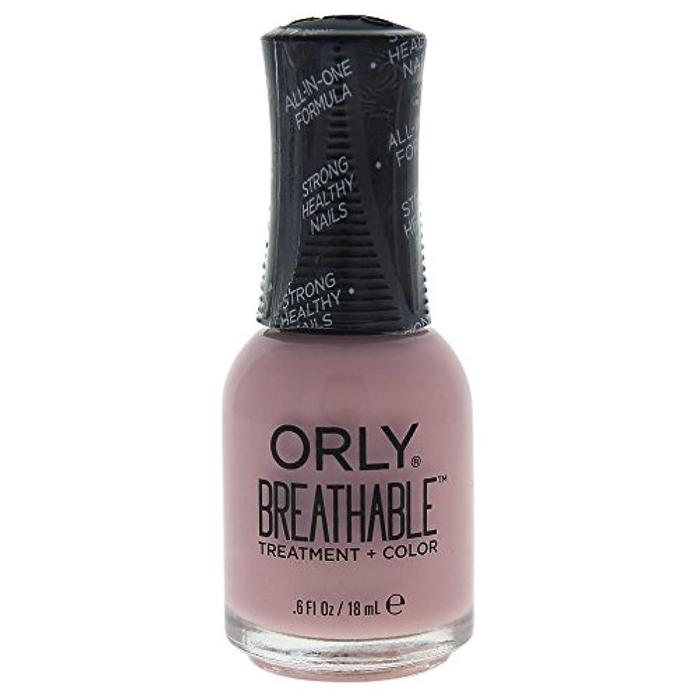 前件リング差別化するOrly Breathable Treatment + Color Nail Lacquer - Sheer Luck - 0.6oz / 18ml
