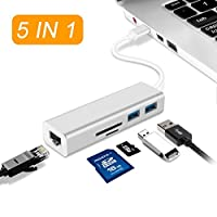 5in 1USB Cカードリーダーハブ RayCue-05125