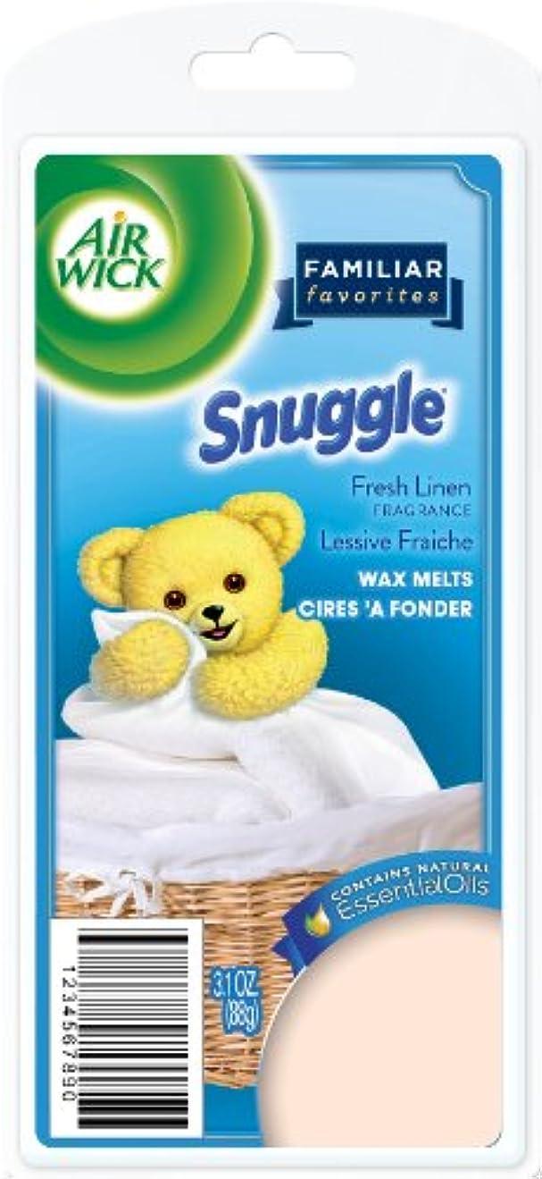 ティッシュ甘やかす劇的Air Wick Scented Candles Wax Melts, Familiar Favorites Collection, Snuggle Fresh Linen Scent, 3.1 Ounce by Air...