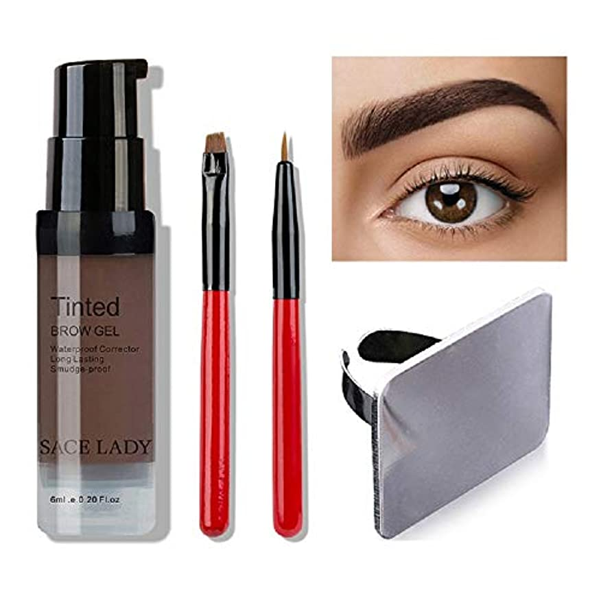 評価可能レクリエーションピルファーWaterproof Eyebrow Shadow Henna Makeup Enhancer Tint Brush Kit Eye Brow Gel Cream Make Up Set Paint Tool Wax Cosmetic...