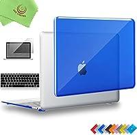 "ueswill 3in1光沢クリスタルクリアSee ThroughハードシェルケースwithシリコンキーボードカバーMacbook Air +マイクロファイバークリーニングクロス MacBook 12"" ブルー UES07C12M3-10"