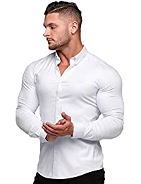 [Manatsulife] メンズ ビジネスシャツ ワイシャツ 長袖 レギュラーカラー トップス ノーアイロン ストレッチ