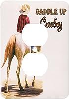 3drose LSP _ 52253_ 6Saddle Up Cowboy Westernテーマペイント2プラグコンセントカバー