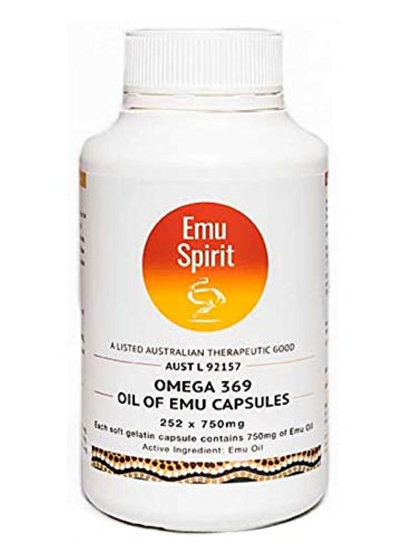 一流乱闘ボート[Emu Spirit] オメガ3,6,9 エミューオイルカプセル 252錠 (海外直送品)