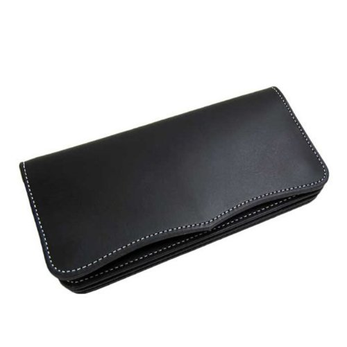 [Maturi マトゥーリ] 日本製 かっこいい長財布 (ヌメ革 MR-026) (ブラック)