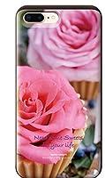 iPhone8Plus iPhoneケース (ハードケース) [カード収納/耐衝撃/薄型] Oilshock Designs (オイルショックデザインズ) Some sweets CollaBorn (iPhone7Plus対応)